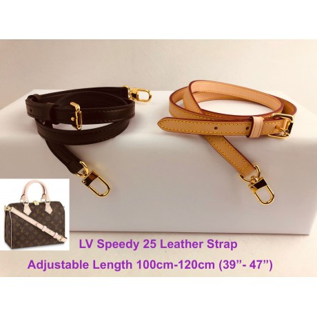 LV Speedy 25 - Real Leather Adjustable Strap