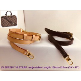 LV Speedy 30 - Real Leather Adjustable Strap