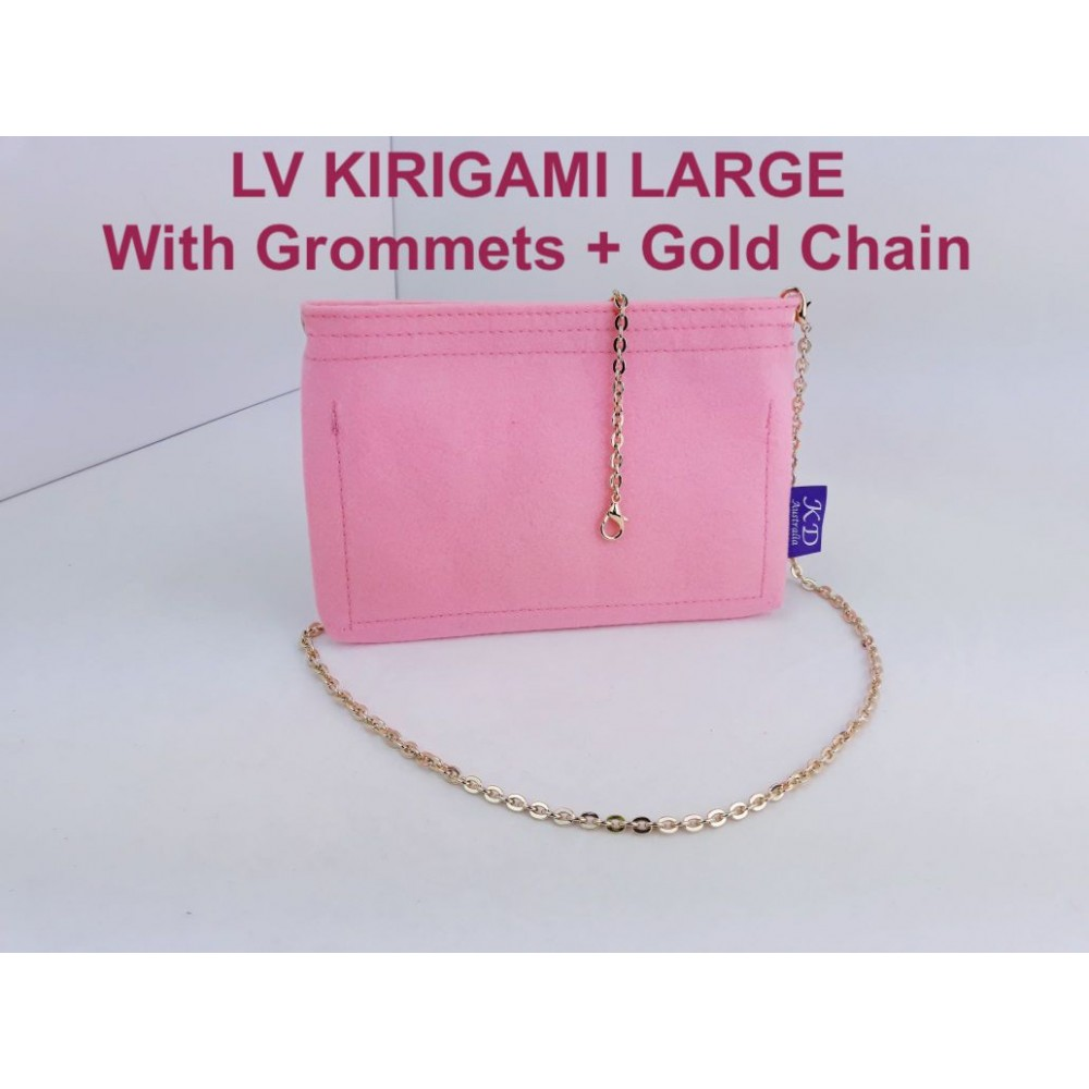 LV Kirigami ( Large size ) With Grommets + Gold or Silver Chain