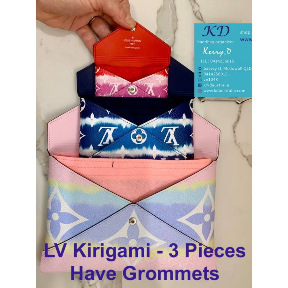 LV Kirigami ( 1 SET - 3 pieces ) All 3 Pieces Have Grommets