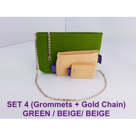 LV Kirigami ( 1 SET - 3 pieces ) With Grommets on LARGE & MEDIUM SIZE + Gold or Silver Chain