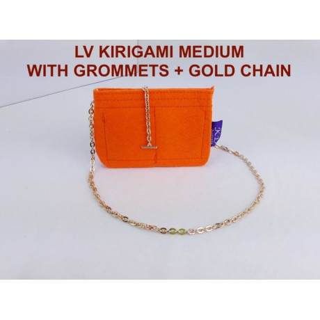 LV Kirigami ( Medium size ) With Grommets + Gold or Silver Chain