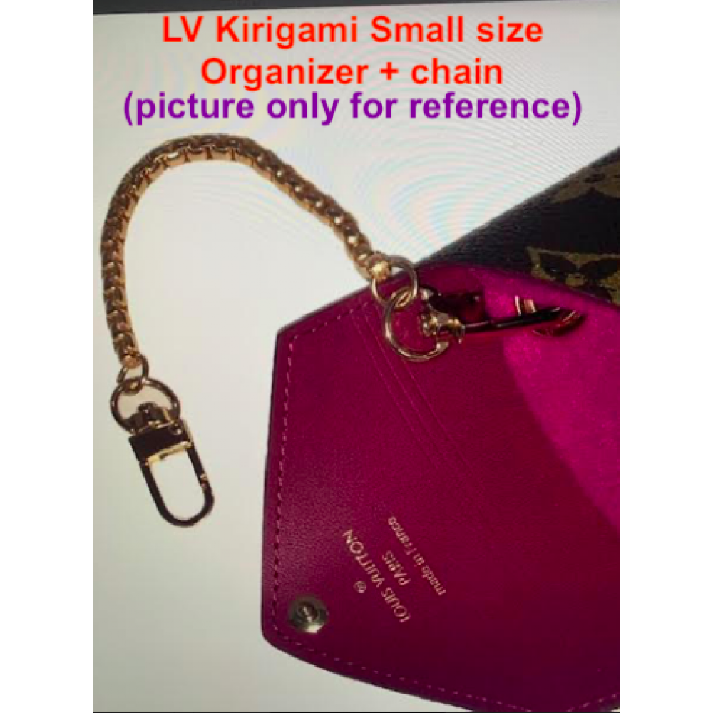 LV Kirigami ( Small size ) With Grommets + Gold or Silver Chain