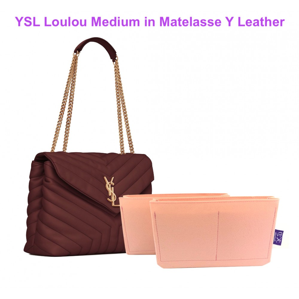 YSL Loulou Medium in Matelasse Y Leather (Set - 2 pieces)