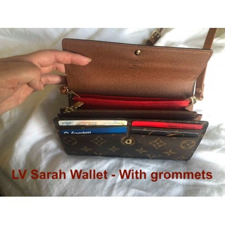 LV Sarah Wallet  ( With Grommets )