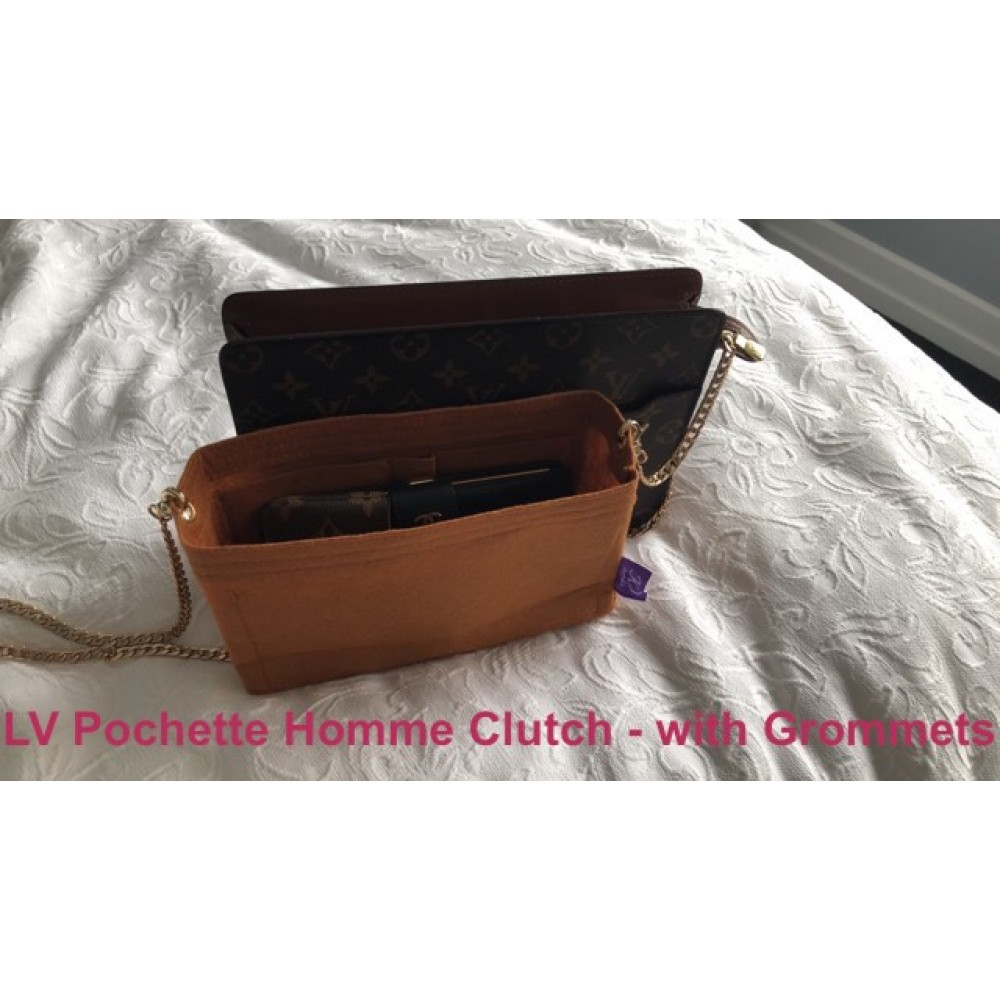 LV Pochette Homme Clutch ( With Grommets)