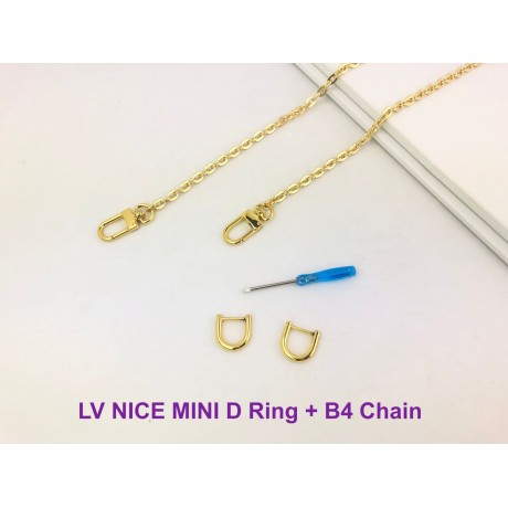 LV Nice Mini  ( D Ring & Gold Chain ) set of 2