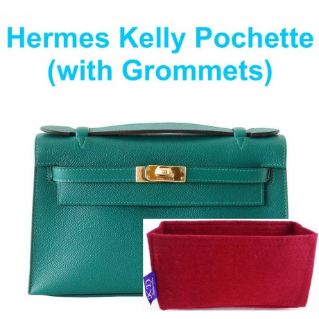 Hermes Kelly Pochette ( With Grommets )