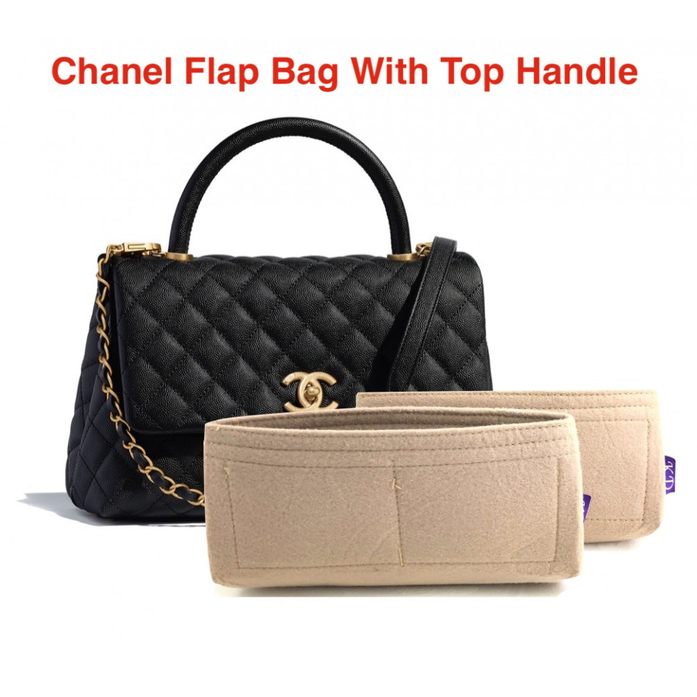 Chanel Flap Bag With Top Handle ( A92991 )
