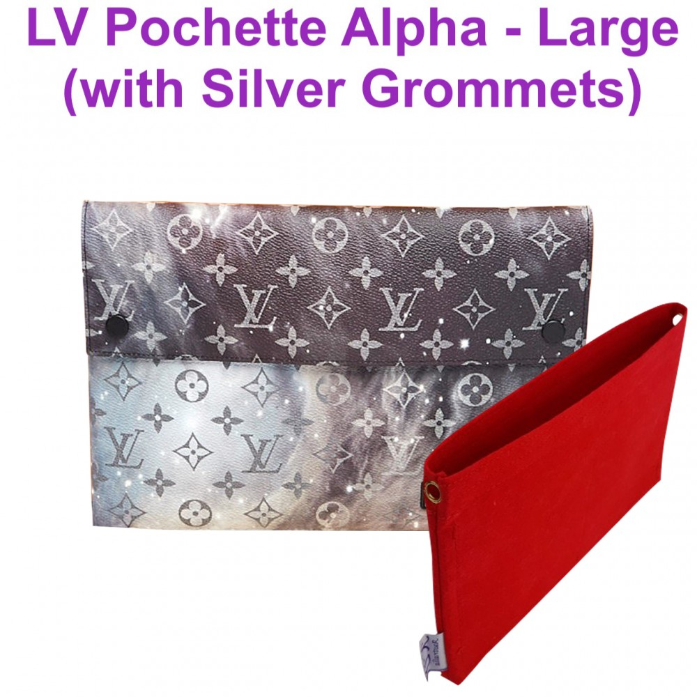 LV Pochette Alpha Triple ( LV Galaxy ) - Large size ( with Grommets )