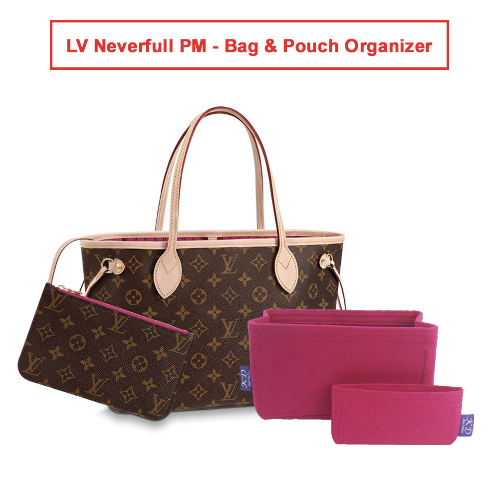 1 Set of LV Neverfull PM - Bag & Pouch Organizer