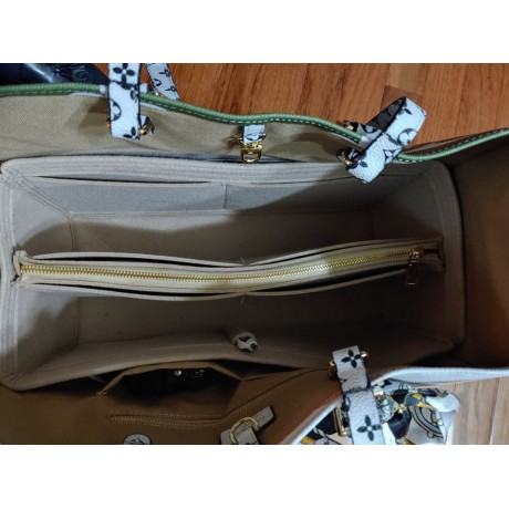 LV ONTHEGO GM - with Removable Middle Zipper & Cup Holder