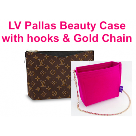 LV Pallas Beauty Case ( with Hooks + Gold Chain )