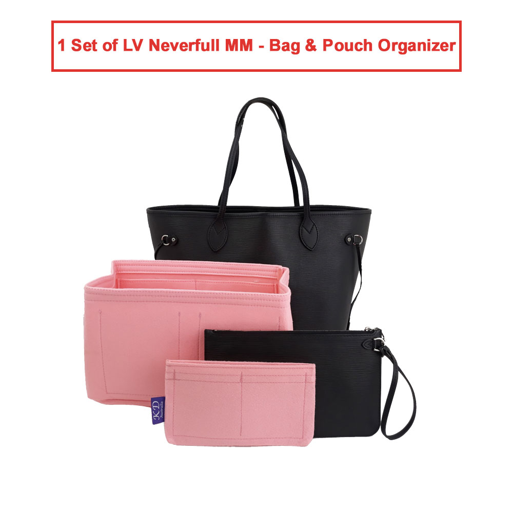 1 Set of LV Neverfull MM - Bag & Pouch Organizer