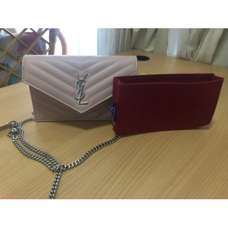 YSL Envelope Small Leather Shoulder Bag