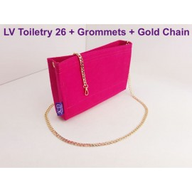 LV Toiletry 26 ( With Grommets + Gold Chain )