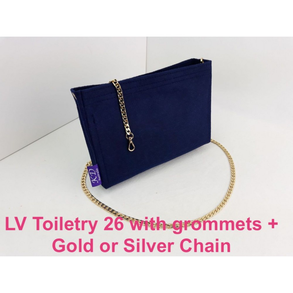 LV Toiletry 26 ( With Grommets + Gold or Silver Chain )