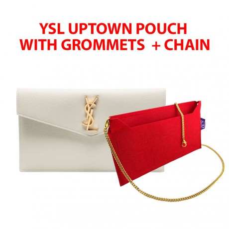 YSL Uptown Pouch - With Grommets + Gold or Silver Chain